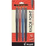 Pilot Razor Point Marker Stick Stifte, extra fine point 4-Pack verschiedene Farben