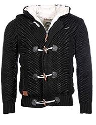 Géographical Norway Homme - Veste gilet à capuche en maille Focacola noir