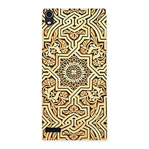 Old Work Print Back Case Cover for Ascend P6