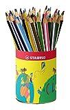 Crayon de coloriage - STABILO Trio - Godet de 38 crayons de couleur triangulaires - 12 couleurs assorties
