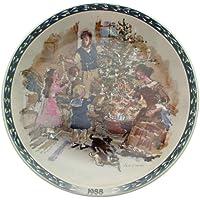 Wedgwood 1988 decorare l'albero di Natale vittoriano da John Finnie CP1790-Piatto (Bradford Albero Di Natale)