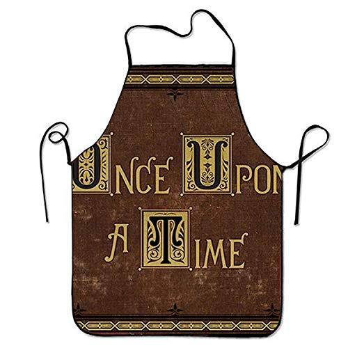 KLYDH Once Upon A Time Aprons Printed Apron for BBQ Waiteress Gardening (Jacket Once Upon Time A)