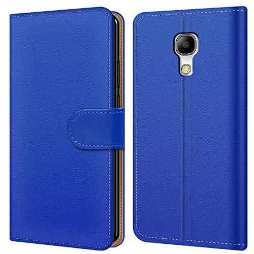Conie BW33712 Basic Wallet Kompatibel mit Samsung Galaxy S4 Mini, Booklet PU Leder Hülle Tasche mit Kartenfächer und Aufstellfunktion für Galaxy S4 Mini Case Blau