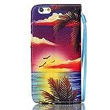 Meet de Apple iPhone 6 6S (4,7 Zoll) Bookstyle Étui Housse étui coque Case Cover smart flip cuir Case à rabat Apple iPhone 6 6S (4,7 Zoll) Coque de protection Portefeuille - Hawaii