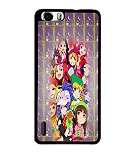 PrintDhaba Faces D-2940 Back Case Cover for HUAWEI HONOR 6 PLUS (Multi-Coloured)