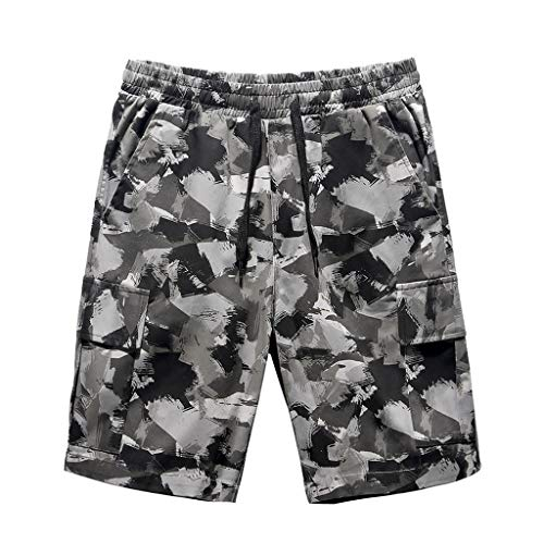 Zarupeng Herren Outdoor Sweatshorts Sommer Lose Camouflage Strand Surfen Shorts Fitness Laufen Training Kurze Hosen mit Kordelzug -