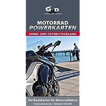 Motorrad Powerkarten Nord- und Ostdeutschland: Laminierte Landkarten für Motorradfahrer