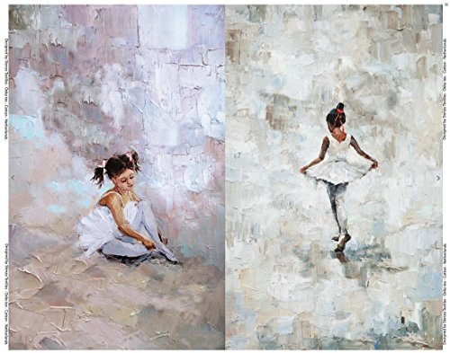 -Qualität / Jersey Panel Ballerina Gemälde rosa / weiß (Beste Ballerina)