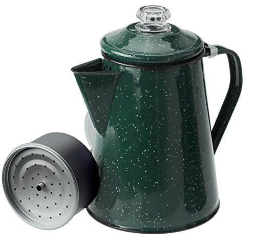GSI Outdoors Kaffeekanne mit Perkolatoreinsatz 1,2 L Perkolator, Grün, M