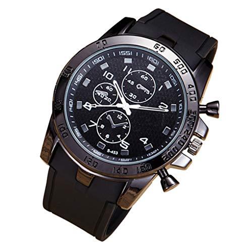 LEVEL GREAT Männer Sport PU-Bügel-Armbanduhr Male Analog Chronograph Leben Wasserdichten Datum-Kalender Außen Legierung Uhr -