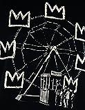 Faces   Banksy Tribute to Basquiat   T-Shirt Homme Impression Sérigraphique Artisanale Manuelle à l'Eau ...