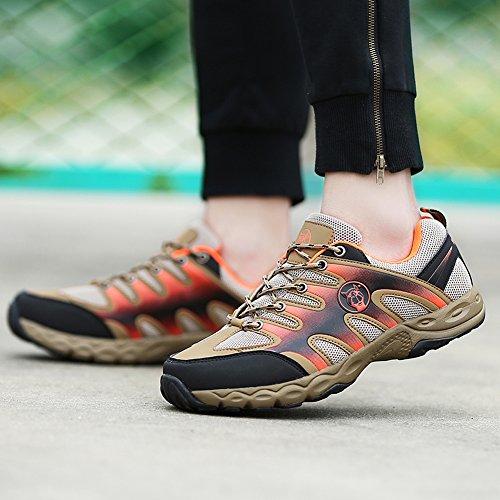 JEDVOO Scarpe da trekking e da passeggiata Uomo arancione kaki