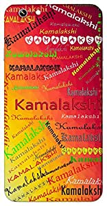 Kamalakshi (one with lotus like eyes) Name & Sign Printed All over customize & Personalized!! Protective back cover for your Smart Phone : Moto G2 ( 2nd Gen )