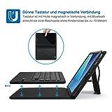 Jelly Comb Samsung Galaxy Tab S3 9.7 Tastatur Hülle, Bluetooth Keyboard Case Trennbare Wiederaufladbare QWERTZ Tastatur für Samsung Tab S3 9,7 Zoll, Schwarz Vergleich