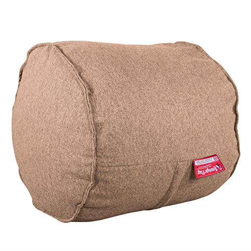 Lounge Pug®, Fußhocker C75-L, CloudSac Latexflocken-Mischung, Pouf, Interalli Wolle Sand - Sand Wolle-mischung