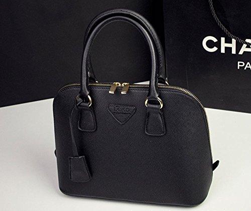 X&L Women's Mode Schale Tasche Handtasche Umhängetasche Diagonale Tasche Black