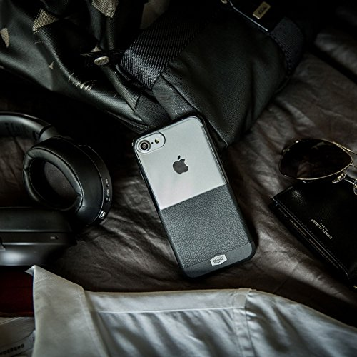Custodia per iPhone X, Serie X-Doria Dash, Soft TPU, Custodia protettiva in policarbonato per Apple iPhone X - Nero Grigio