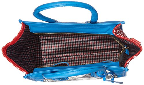 LAURA VITA Damen Dax Schultertasche, 12x23x26 cm Blau (Bleu)