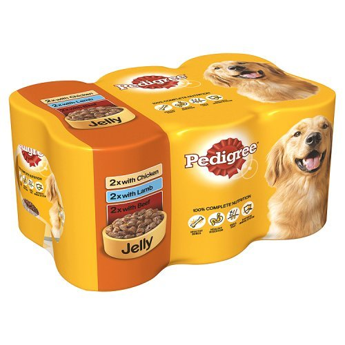 pedigree-dog-tins-mixed-selection-in-jelly-6-x-385g