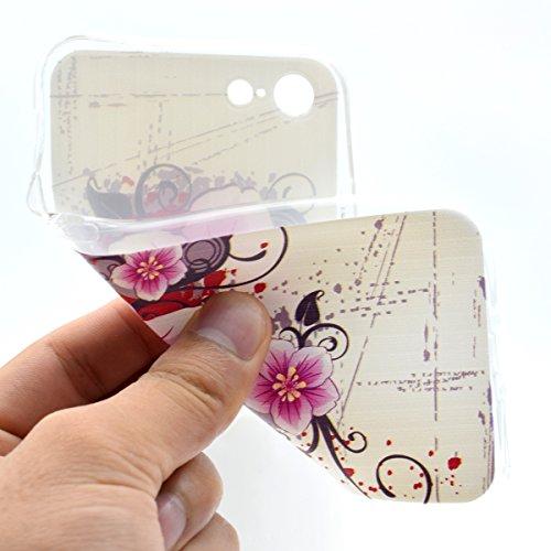iPhone 7 Hülle, Asnlove Karikatur Muster TPU Transparent Ultradünn Weich Silikon Schutzhülle Thin Fit Passgenaues Premium-Case Schutzhülle für Apple iPhone 7 Case, iPhone 7 Cover - Grüne Mandala Blume