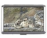 Boîte à Cigarettes, Porte-Cartes de Visite léopard de la Famille de Chats Snow...