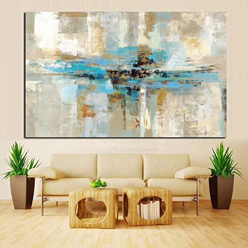 Abstrakte Aquarellblumen-Ölgemälde-Leinwand auf dem Wohnzimmerwandplakat. Moderner Wandkunst Blumenbilderdruck (ohne Rahmen) A3 20x30CM
