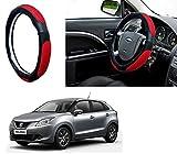 #5: Autopearl Adinox Ring Type Car Steering Wheel Cover (Ultimate Black Red) For -Maruti Suzuki Baleno New