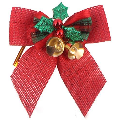 Topdo 1pcs Nudo Navidad Las Campanas Hierro espumillón