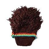 LLCP Farbige Bärenwollmütze, Herren-und Frauenpersönlichkeitsstrickmützen handgemachte Perücken Winterwarm