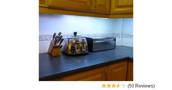 cool white led kitchen under cabinet lighting set 4 x 50cm led rh amazon co uk