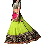 F3 Fashion Women's Georgette Lehenga Cho...