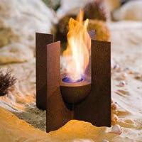 Wunderschöne Feuerstelle für romantische Abende in Ihrem Garten. Dieses Tischfeuer macht Ihre Abende durch die Verbindung von Metall und Feuer zu einem besonderen Highlight. Die kleinen Fehler der B-Sortierung unterstreichen den rustikalen Charme.
