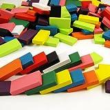 Eshowy 240PCS Dominos blocchi di legno–Macchina da corsa gioco di costruzione e da impilare