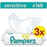 Pampers Sensitive Feuchttücher, 168 Tücher, 3er Pack (3 x 56 Stück)
