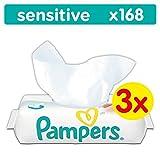 Pampers Sensitive Feuchttücher 3 Packungen, 3er Pack (3 x 168 Stück)