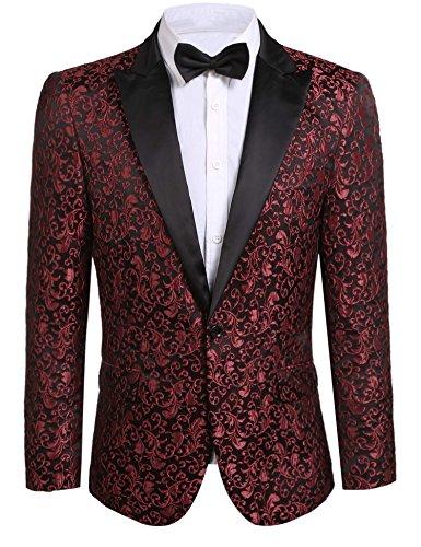Imposes Herren Festliche Sakkos Anzugjacke Smokingjacke Slim Fit Jacke Übergangsjacke