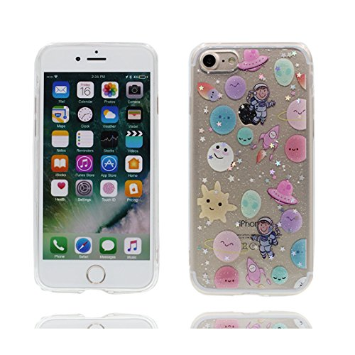 iPhone 6 Plus Copertura Cover, Durevole Shell TPU per le ragazze iPhone 6 Plus / 6S Plus Custodia Case 5.5 A prova di polvere - vulcanico # 5