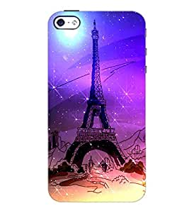 PrintDhaba Tower D-4893 Back Case Cover for APPLE IPHONE 5S (Multi-Coloured)