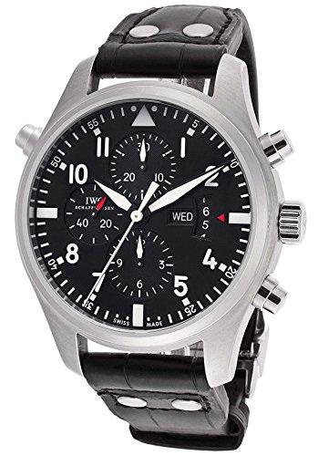 iwc-pilota-da-uomo-cronografo-automatico-nero-quadrante-nero-genuine-alligator
