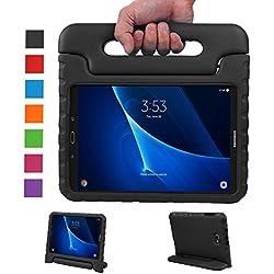 LEADSTAR Samsung Galaxy Tab A 10.1 EVA Etui Poignée Stand Étui Enfants Housse Antichoc Protecteur Kids Coque Anti-Chocs pour Samsung Galaxy Tab A 10.1-pouces SM-T580 SM-T585(Noir)