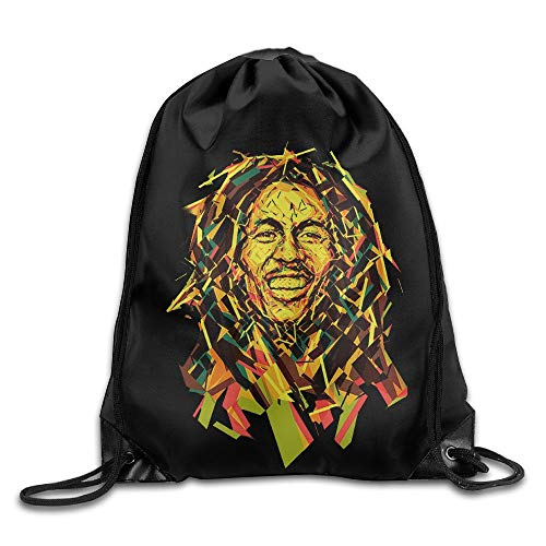 Bob Marley-tie Dye (GONIESA Creative Design Bob Marley Drawstring Backpack Sport Bag for Men and Women)