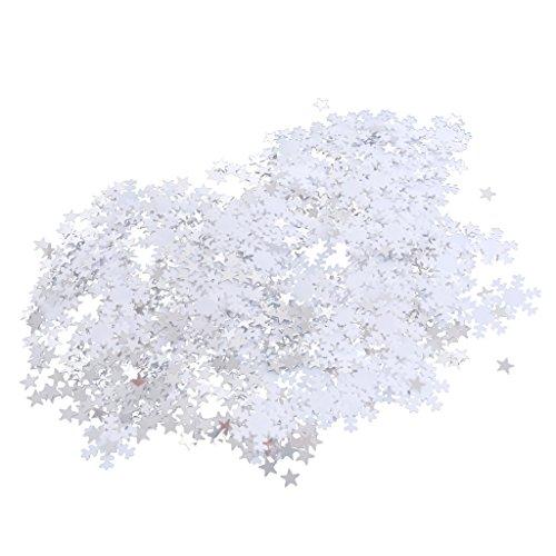eeflocke Sterne Konfetti für Weihnachten Winter Party Dekoration ()