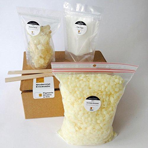 Encaustic Medium BASIC KIT. Materiali per rendere 800 g medie encausto (sbiancato)