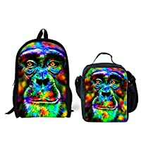 HUGS IDEA Cool 3D Animals Bookbag Dog Face Childrens School Backpack