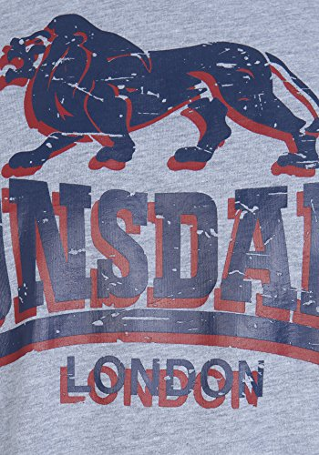 Lonsdale T-Shirt Stone Marl Grey