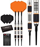 Red Dragon Amberjack 1 Soft Tip Dartpfeile 18g – 90% Tungsten Darts Set (Steel Dartpfeile) mit Flights, Schäfte, Brieftasche Checkout Card