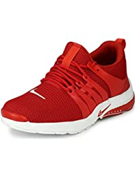 Fucasso Men's Smart Fit Ultra Stylish Red Sports Shoes