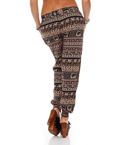 Leggings da donna Harem Pants Beach Casual Pants Bloomers Harem Pants Pantaloni estivi Jeggings M6396 Elephant Nero