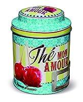 NATIVES 211494 Thé mon amour Boîte à thé Métal Multicolore 9 x 9 x 11,5 cm