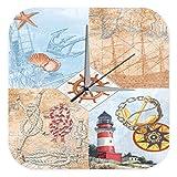 Wanduhr Maritime Deko Leuchtturm Anker Acryl Uhr Vintage Retro